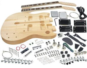 Solo SG Style Double Neck DIY Guitar Kit