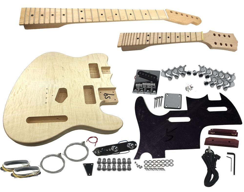 Solo Tc Mandolin Double Neck Diy Guitar Kit Solo Music Gear