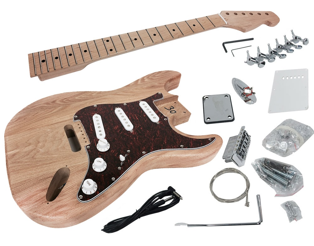 solo stk 15 diy electric guitar kit with alder body solo music gear. Black Bedroom Furniture Sets. Home Design Ideas