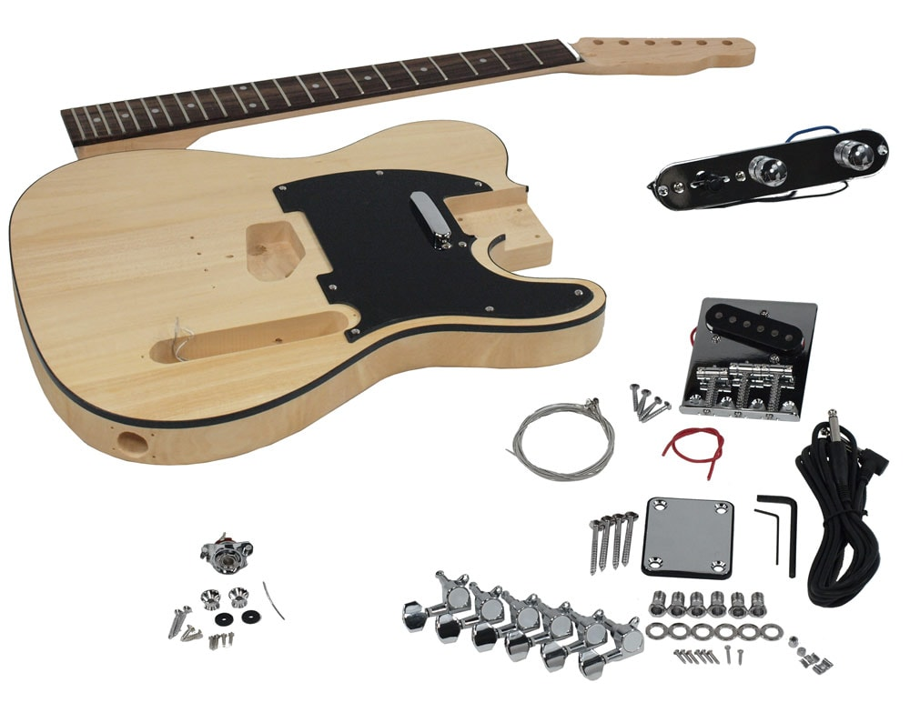 solo tele style diy guitar kit basswood body. Black Bedroom Furniture Sets. Home Design Ideas