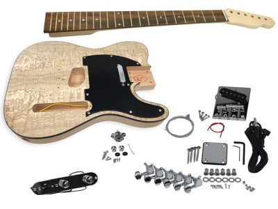 Solo TCK-10 DIY Electric Guitar Kit With Ash Burl Top