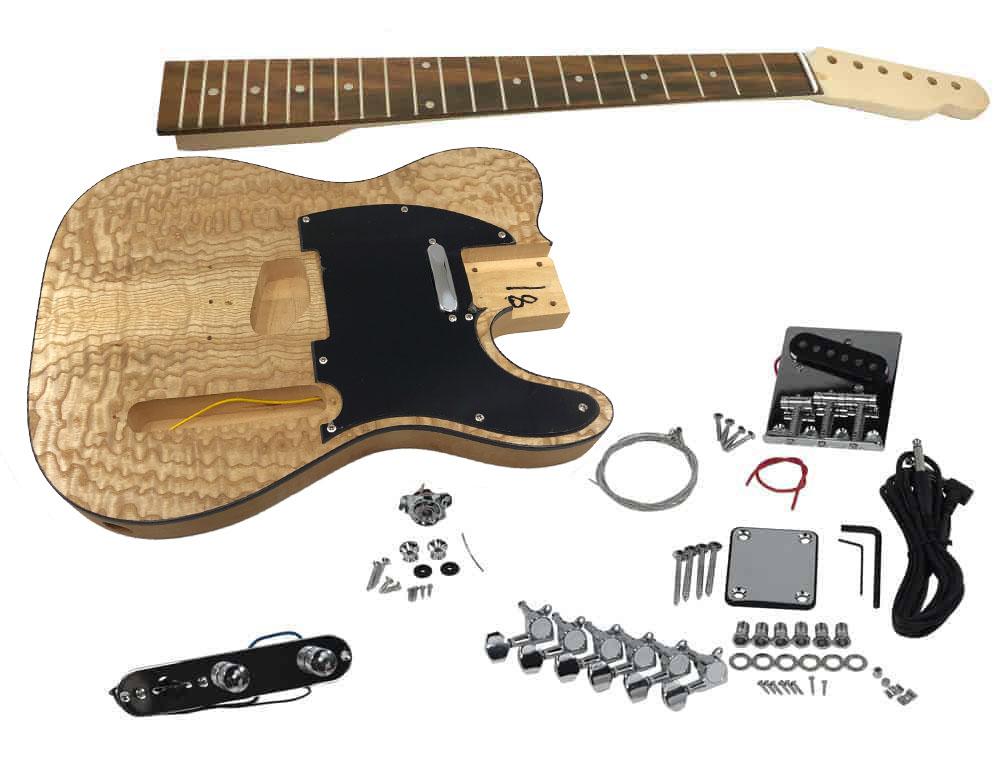 Solo Tck 10 Diy Electric Guitar Kit With Ash Burl Top