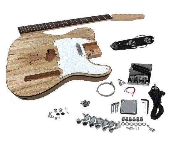 Solo TCK-1SM DIY Electric Guitar Kit With Spalted Maple Top