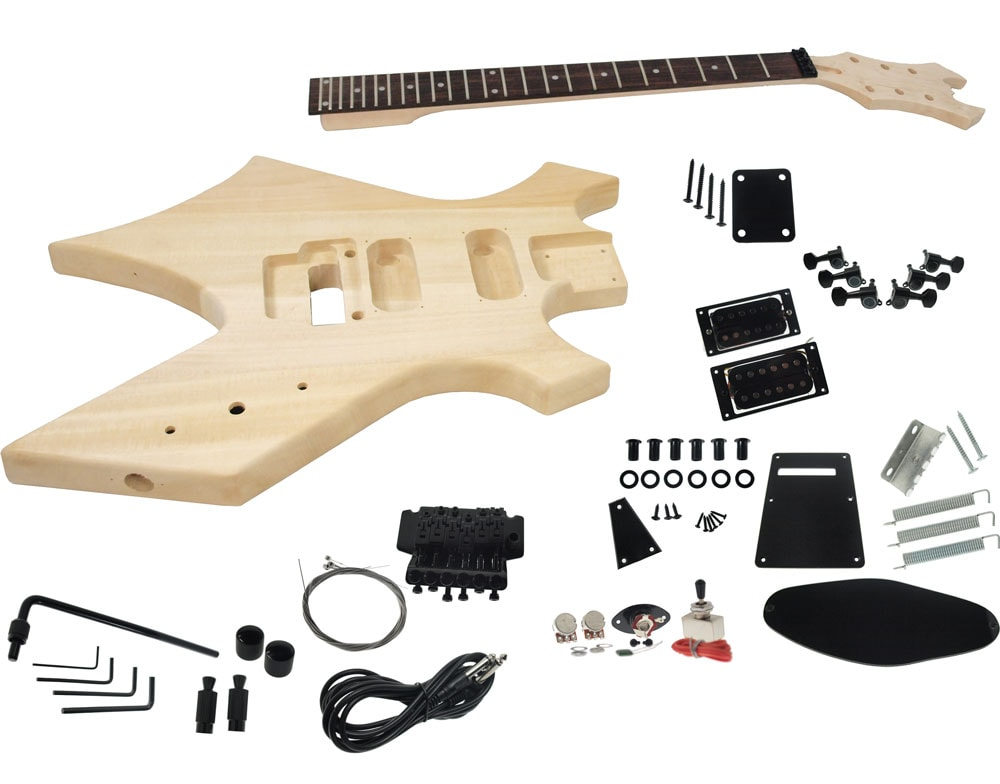 Solo bc style diy guitar kit basswood body maple neck floyd rose do it yourself guitars solutioingenieria Gallery