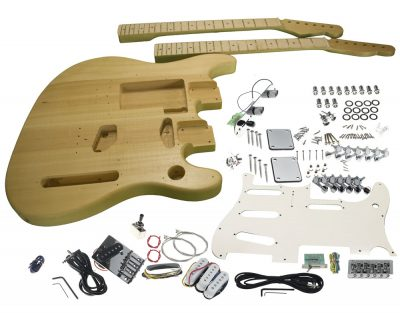 solo tele mandolin double neck diy guitar kit solo music gear solo strat tele style double neck diy guitar kit