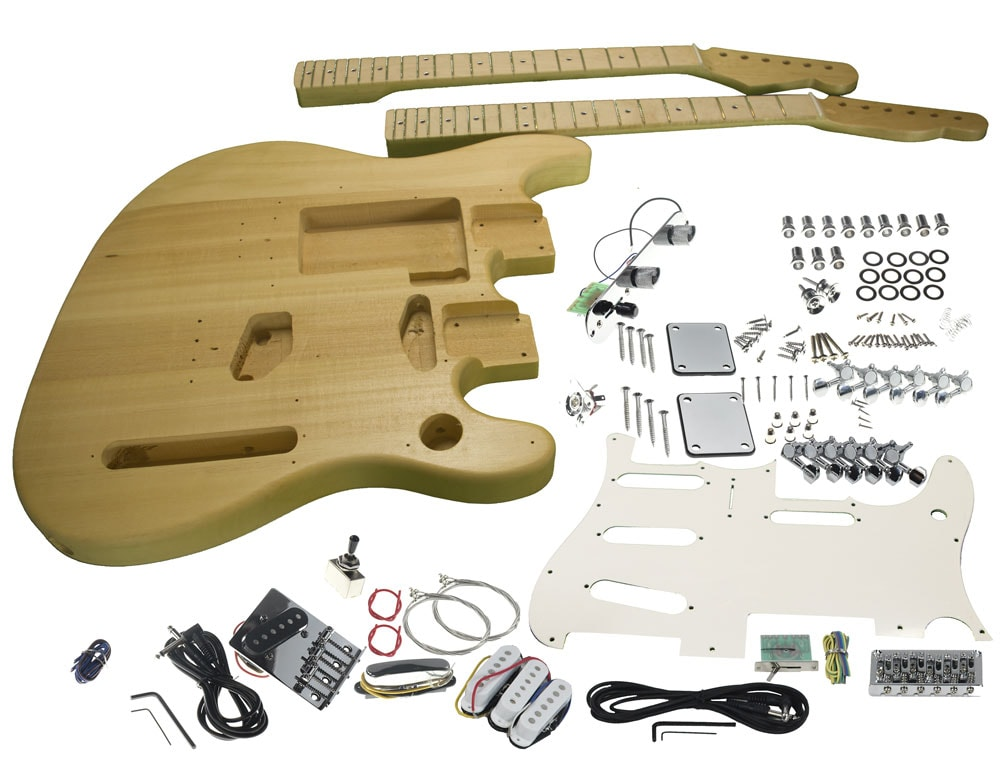 Solo Strat Tele Style Double Neck Diy Guitar Kit Music Gearrhsolomusicgear: Mandolin Double Neck Telecaster Wiring Diagrams At Elf-jo.com
