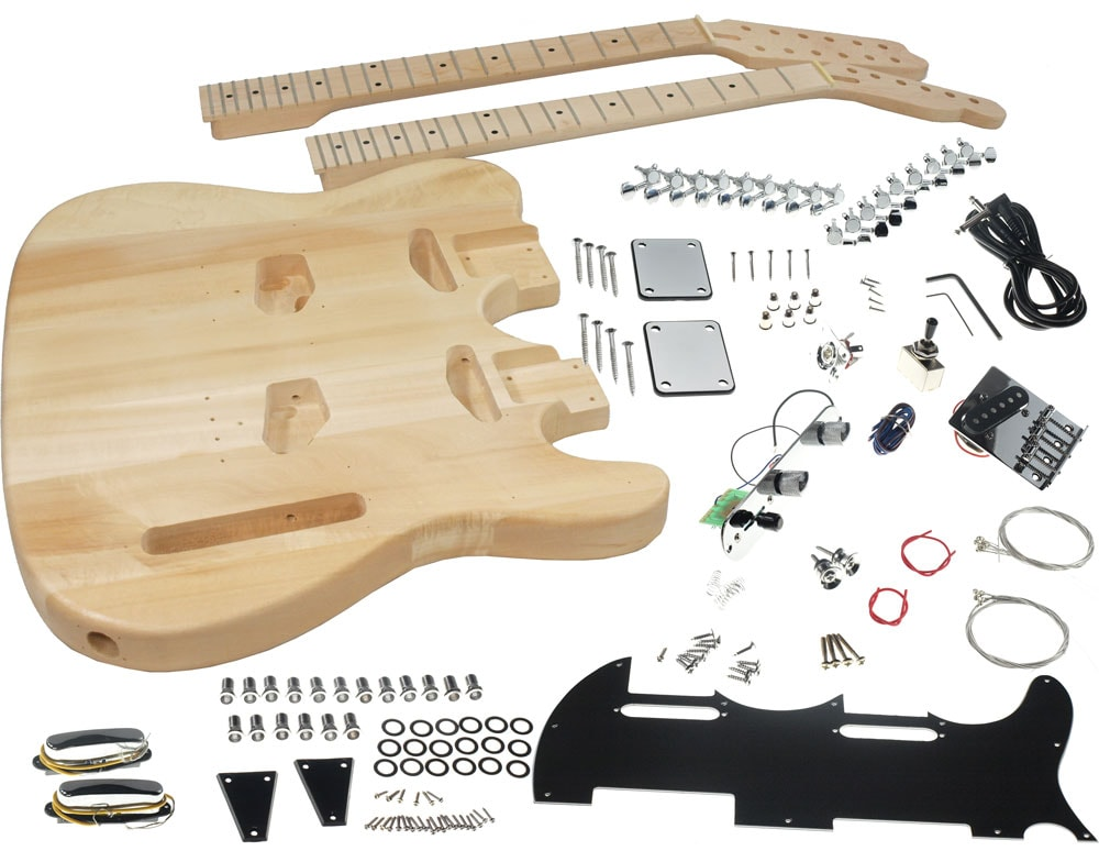 Solo Tc Style Double Neck Diy Guitar Kit 787392885384