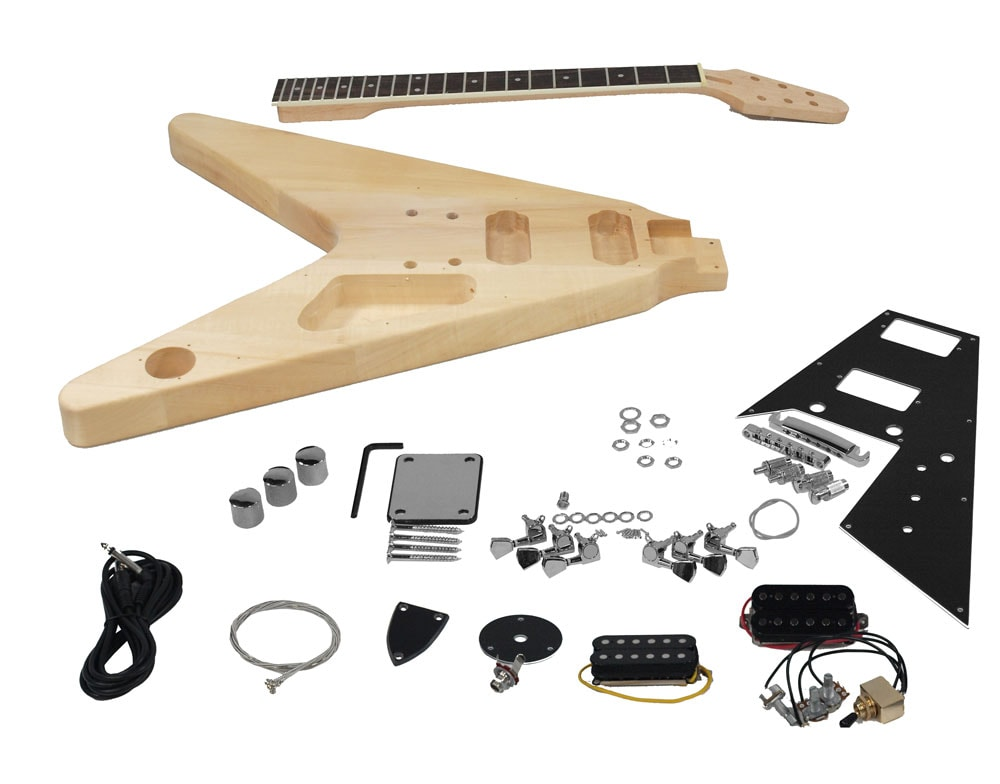 solo fv style diy guitar kit basswood body solo music gear. Black Bedroom Furniture Sets. Home Design Ideas