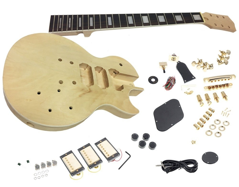 Solo Lp Les Paul Style Diy Guitar Kit Carved Body With