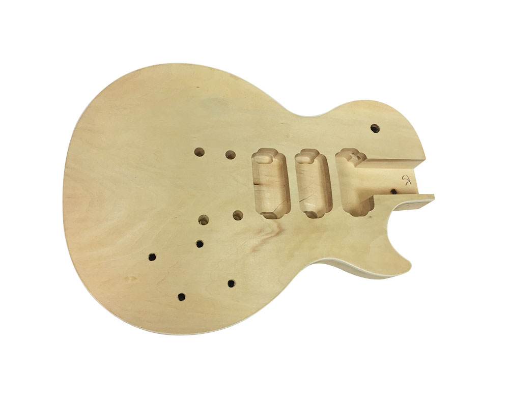 Solo LP (Les Paul) Style DIY Guitar Kit, Carved Body with Maple Top ...