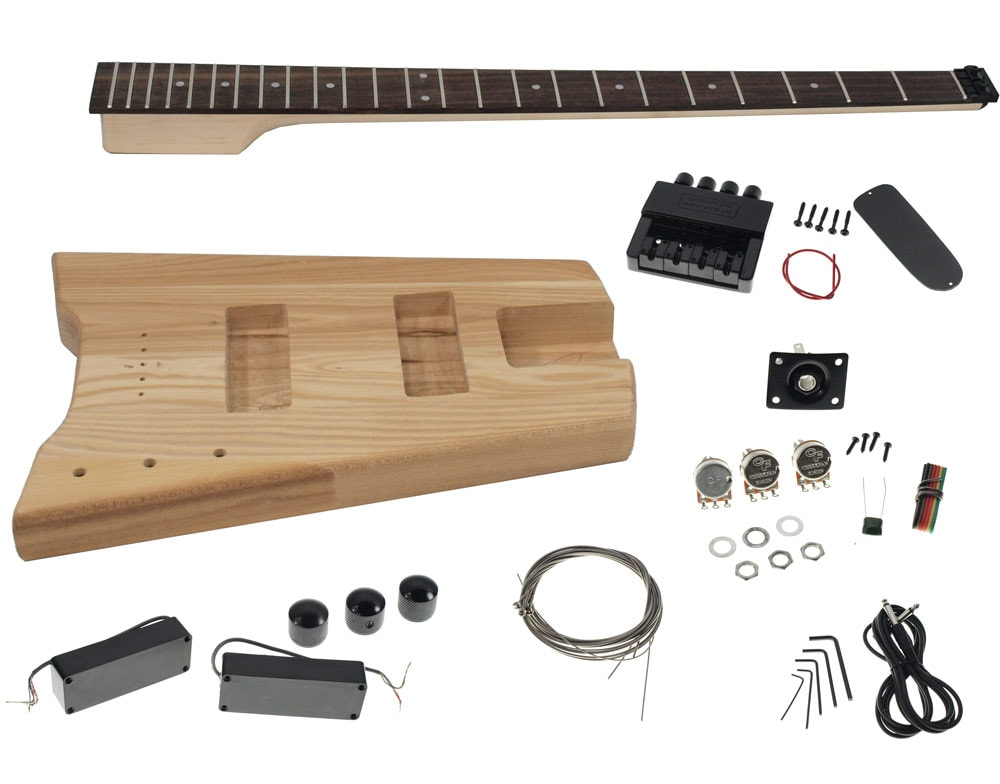Solo sb style diy headless bass guitar kit maple neck ash body guitar building kits diy guitar kits solutioingenieria Image collections