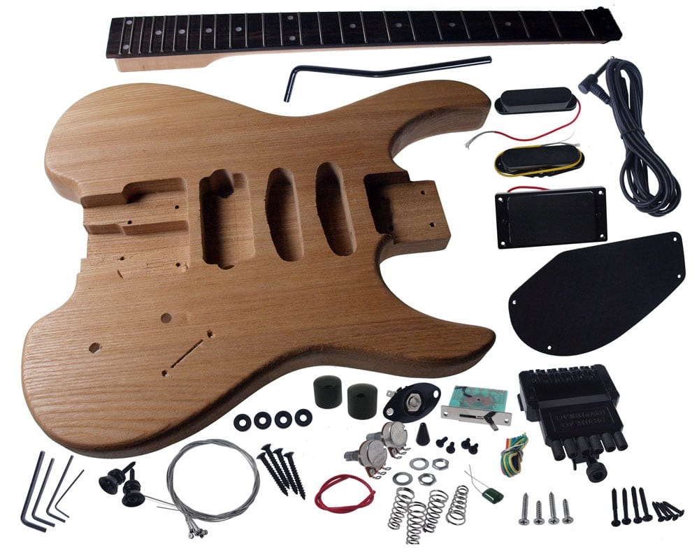 Solo sb style diy guitar kit ash body headless maple neck rw fb do it yourself guitars solutioingenieria Gallery