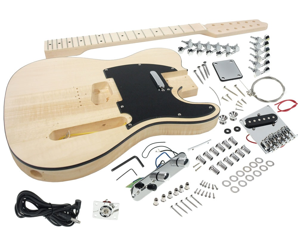 Solo Tele Style DIY Guitar Kit 12 String Basswood Body Maple