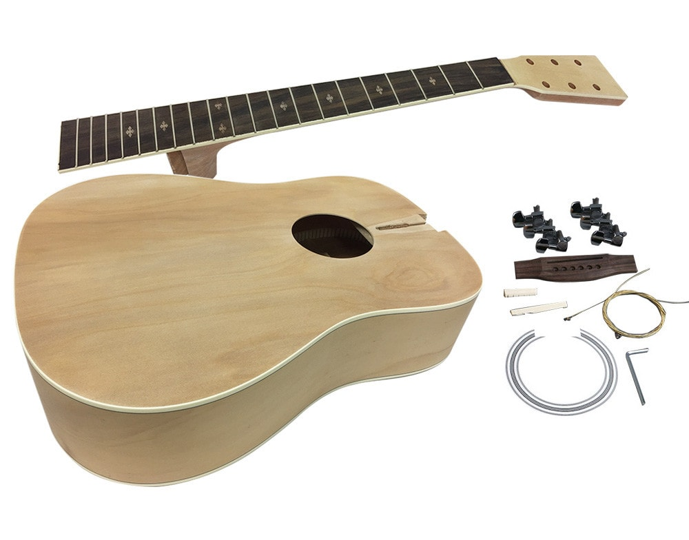 solo acoustic diy guitar kit completed body solo music gear. Black Bedroom Furniture Sets. Home Design Ideas