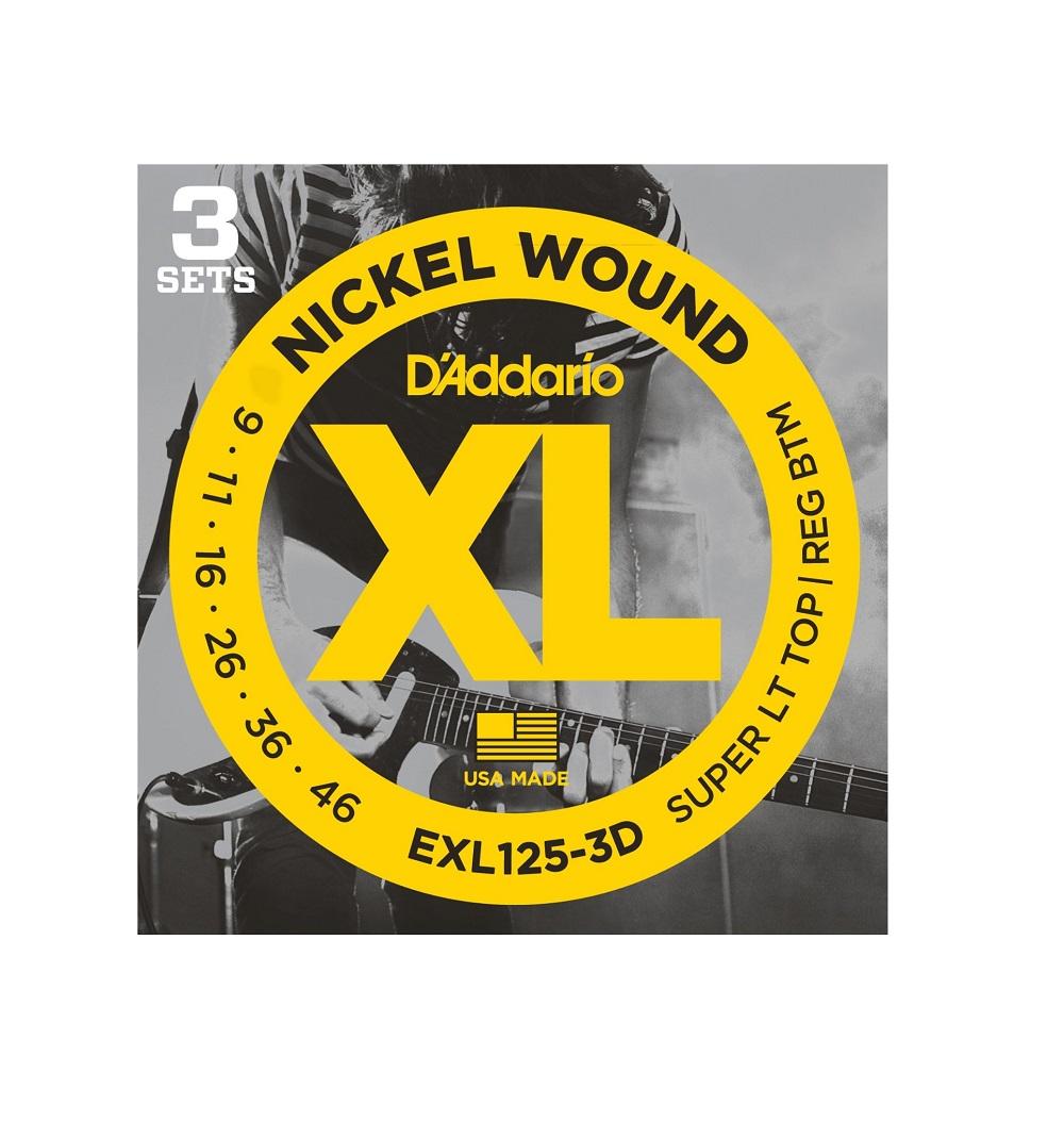 NYXL1052-3P DAddario Nyxl1052 Nickel Wound Electric Guitar Strings 10-52 Light Top//Heavy Bottom 3 Sets
