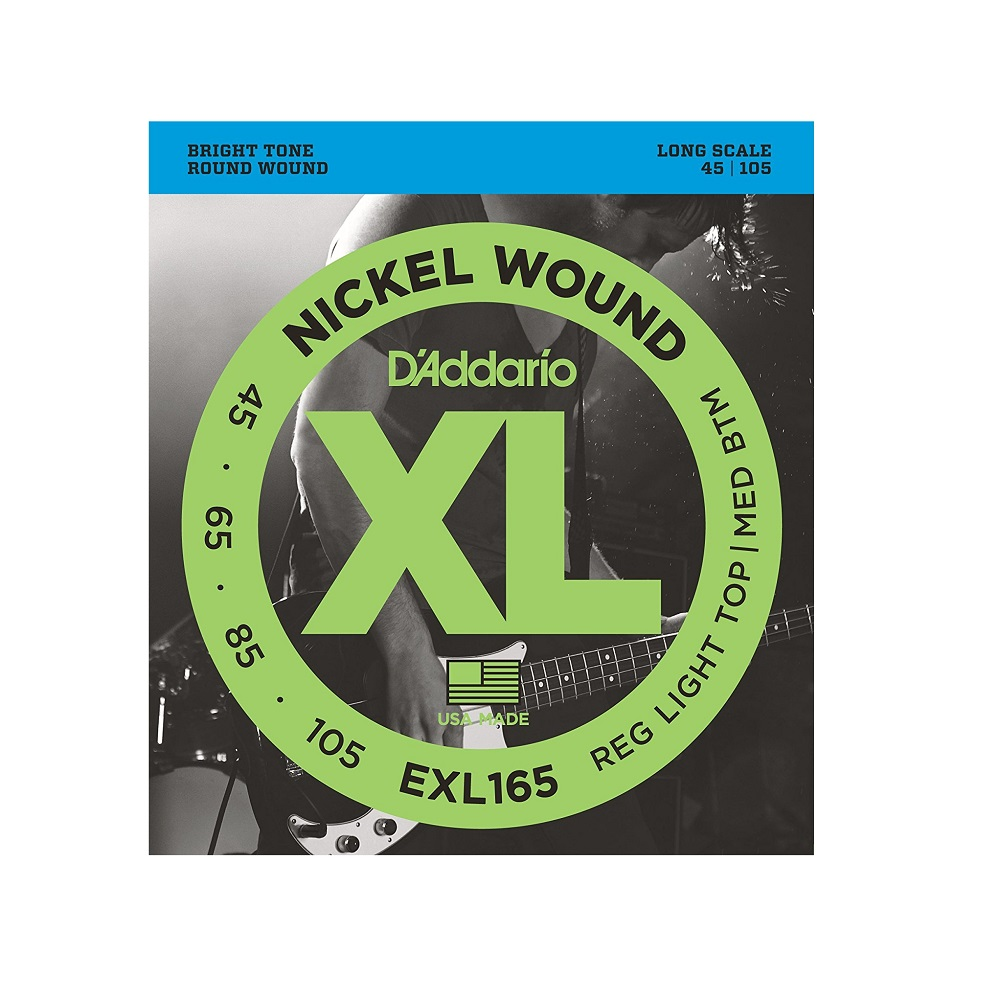 d 39 addario exl165 nickel wound electric bass strings custom light long scale 45 105 solo guitars. Black Bedroom Furniture Sets. Home Design Ideas