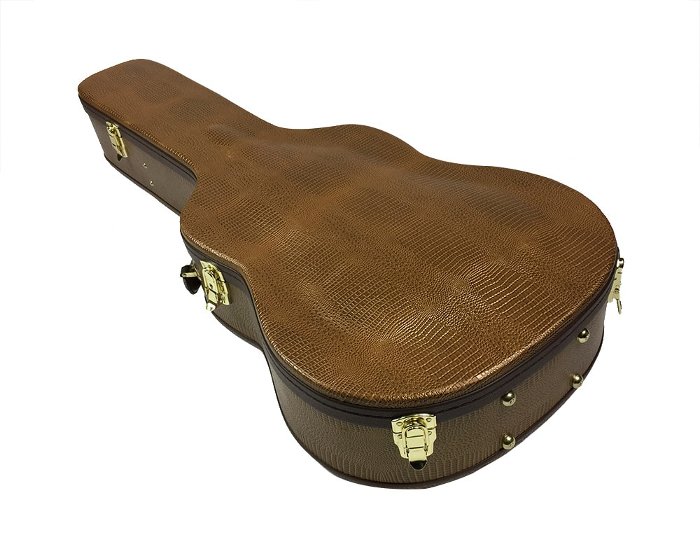 solo acoustic dreadnought hardshell guitar case black solo music gear. Black Bedroom Furniture Sets. Home Design Ideas