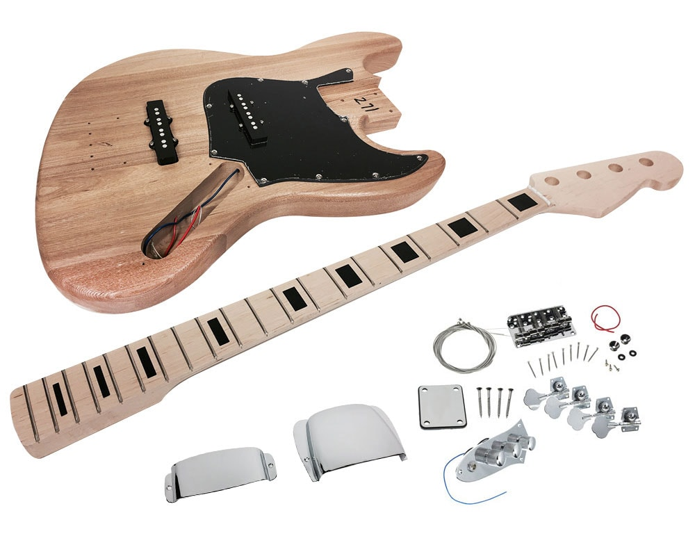 solo jbk 10 diy electric bass guitar kit with ash body solo music gear. Black Bedroom Furniture Sets. Home Design Ideas