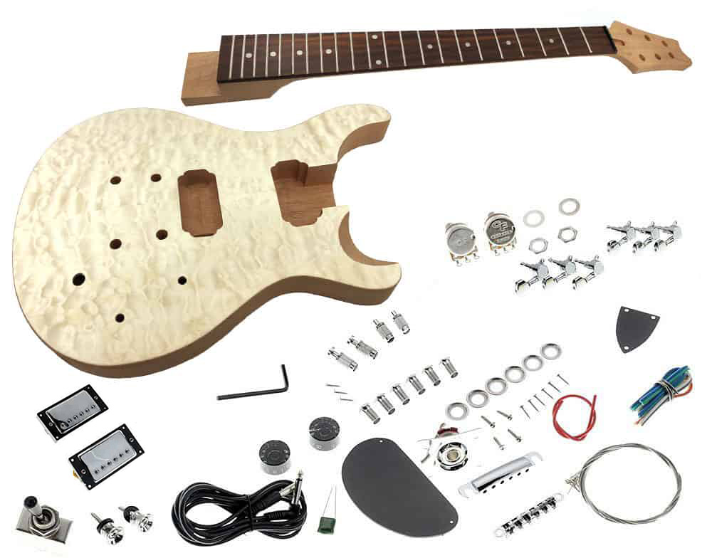 solo prk 10 diy electric guitar kit with quilted maple top solosolo prk 10 diy electric guitar kit with quilted maple top solo music gear