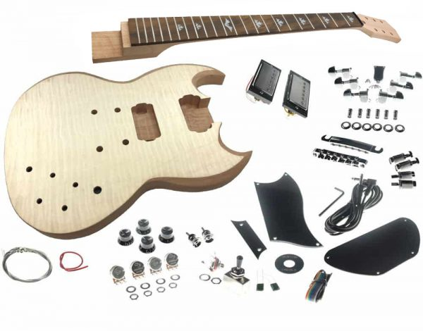Solo SGK-20 DIY Electric Guitar Kit With Flame Maple Top