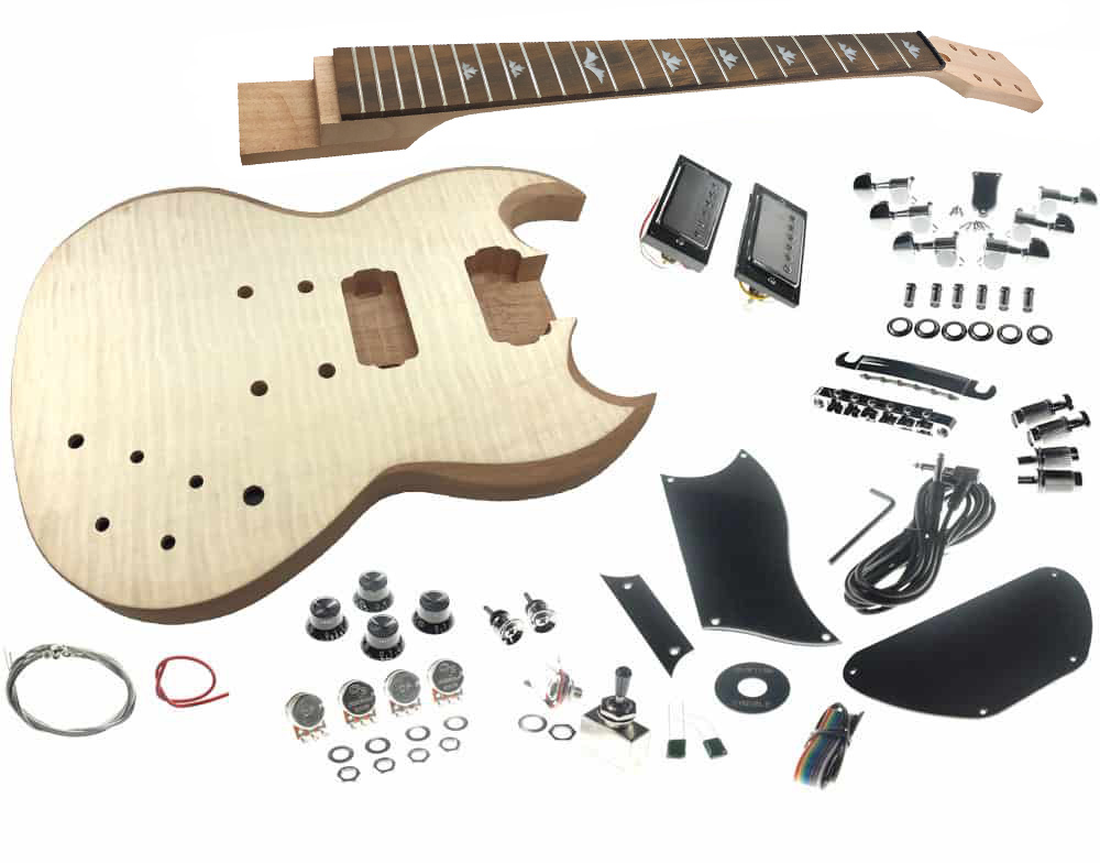 c09100ea9f50bd Solo SGK-20 DIY Electric Guitar Kit With Flame Maple Top
