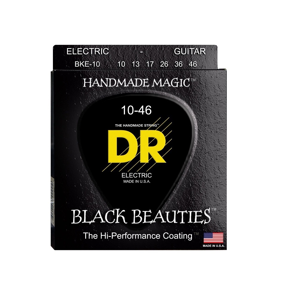 dr strings bke 9 black beauties coated electric guitar strings 10 46 solo guitars. Black Bedroom Furniture Sets. Home Design Ideas