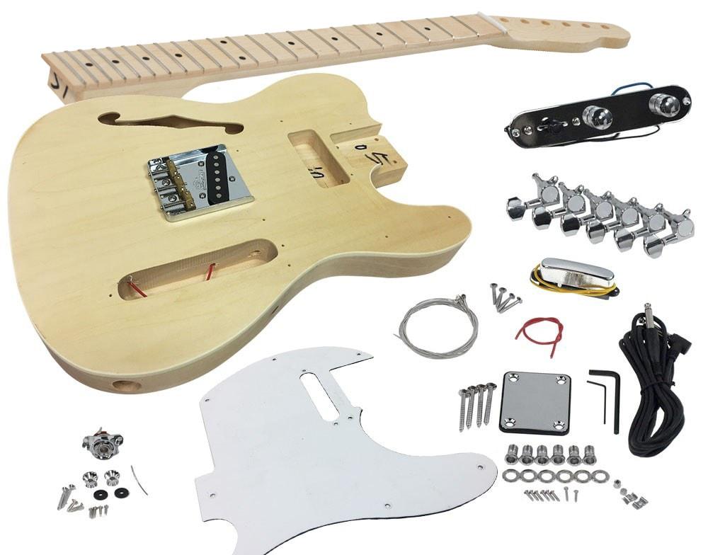 Solo Tele 69 Style Diy Guitar Kit Semi Hollow Body Maple