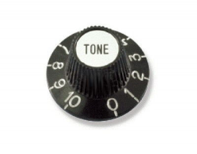 Solo Black and Chrome Plastic Knob
