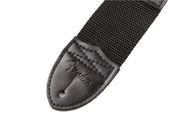 "Fender® 2"" Black Poly Strap with Red Fender® Logo"