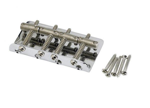 ender® Pure Vintage Bass Bridge Assembly, Nickel/Chrome