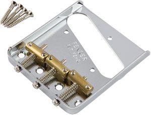 Fender® 3-Saddle American Vintage Tele Bridge Assembly Brass Saddles