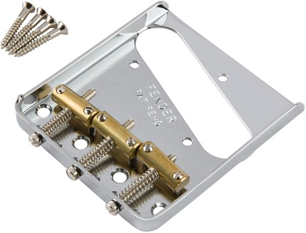 Fender® 3-Saddle American Vintage Tele Bridge Assembly Brass Saddles