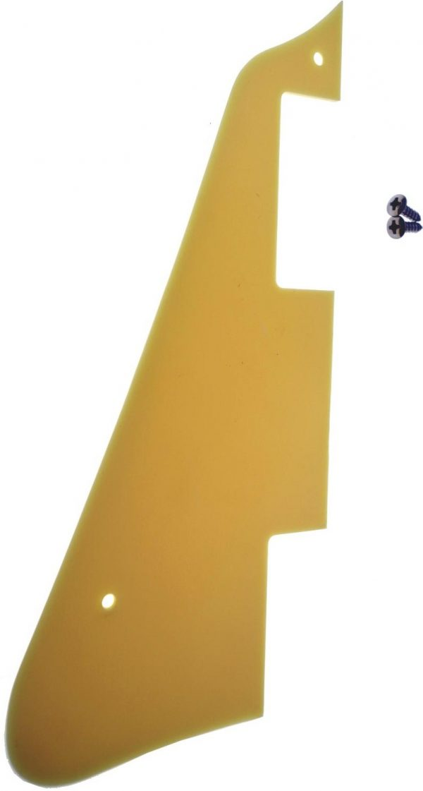 Solo LP Style Pickguard and Screws, 1 Ply, Creme