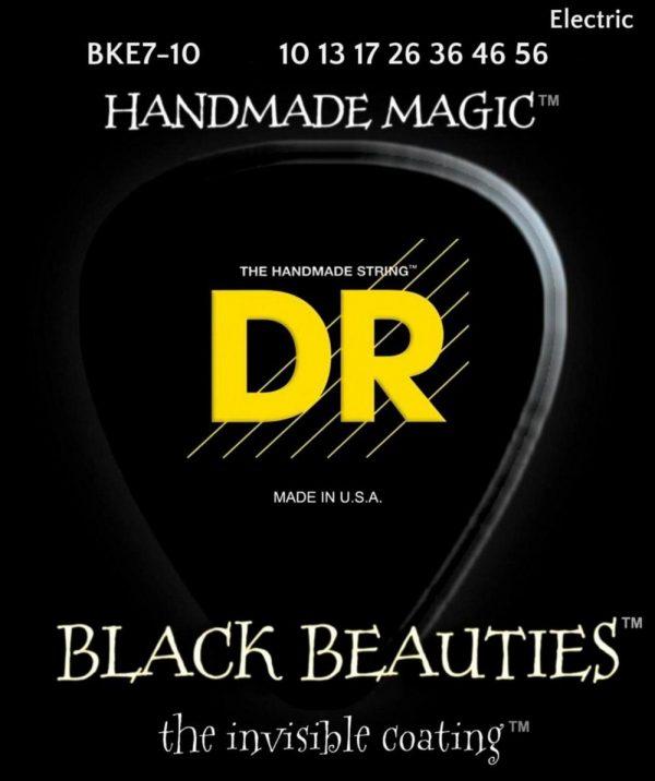 DR Strings Black Beauties Black Coated Medium 7-String Electric Guitar Strings