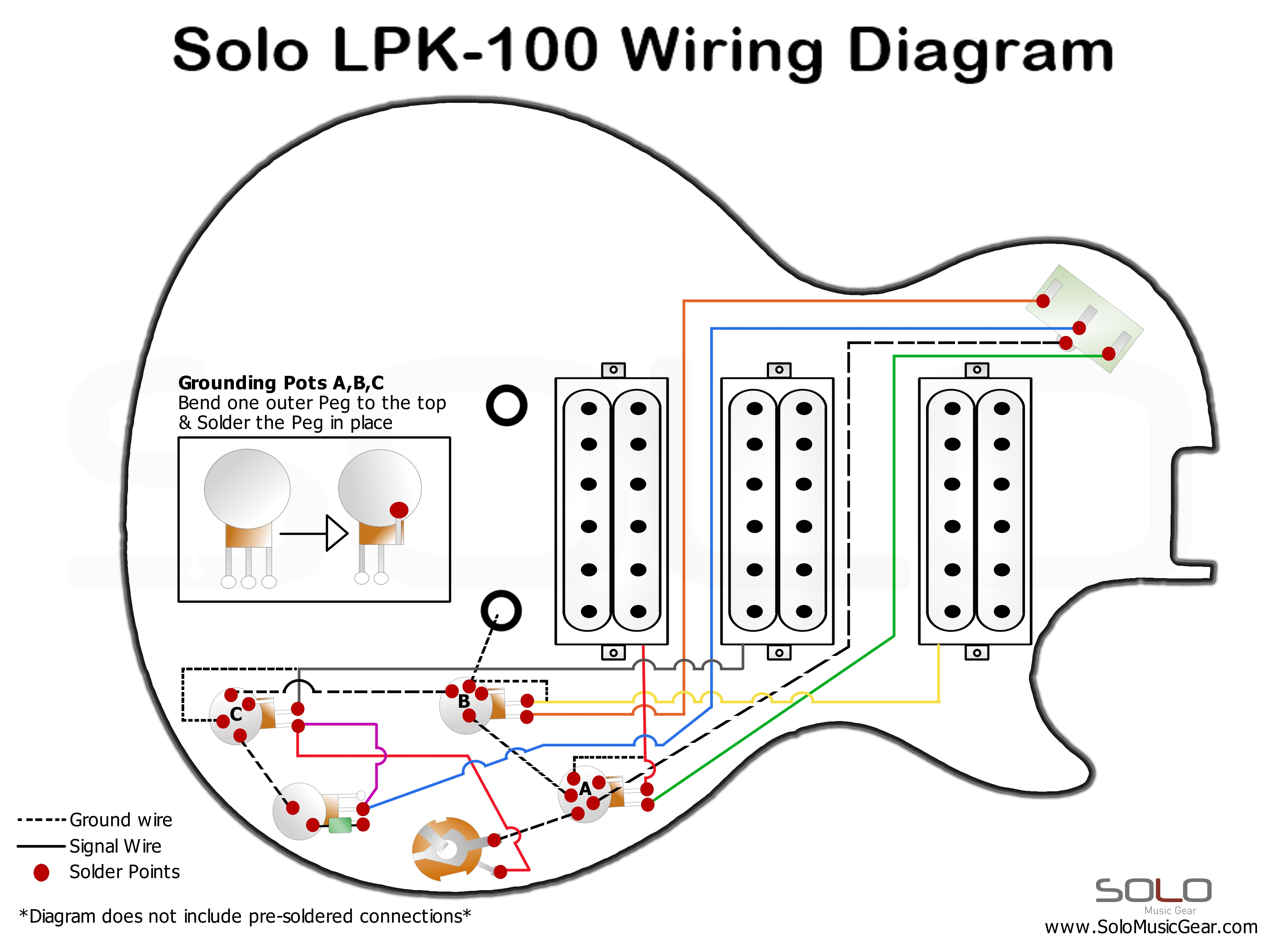 Humbucker Pickup Wiring Diagram from www.solomusicgear.com