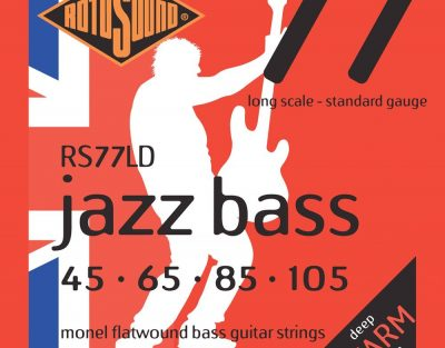 Rotosound RS77LD Jazz Bass Monel Flatwound Electric Bass 4 String Set