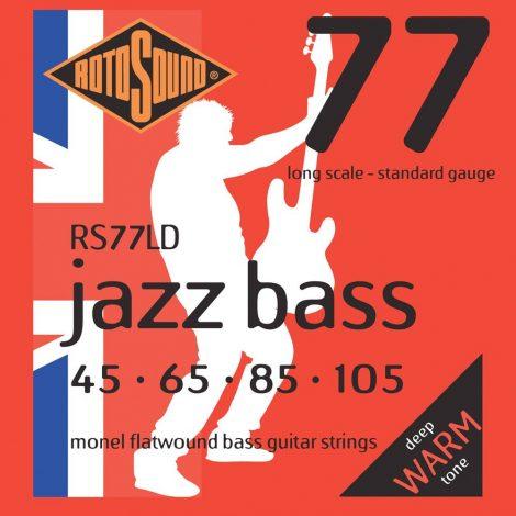 Rotosound RS77LD Jazz Bass Monel Flatwound Electric Bass 4 String Set