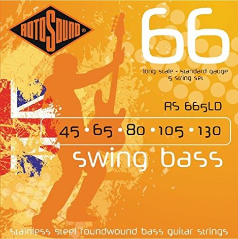 Rotosound RS665LD Swing Bass 66 Stainless Steel Bass Electric Bass 5 String Set