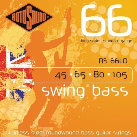 Rotosound RS66LD Swing Bass 66 Stainless Steel Bass Electric Bass 4 String Set