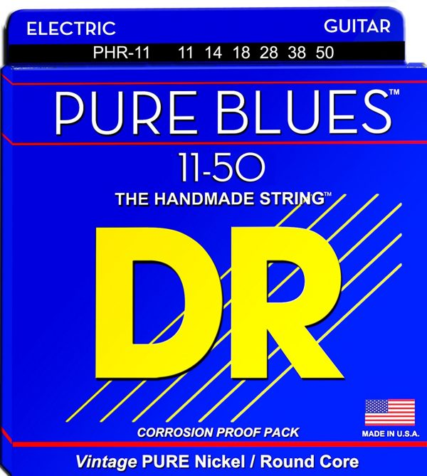 DR Strings PHR-11 Pure Blues Pure Nickel Wrap
