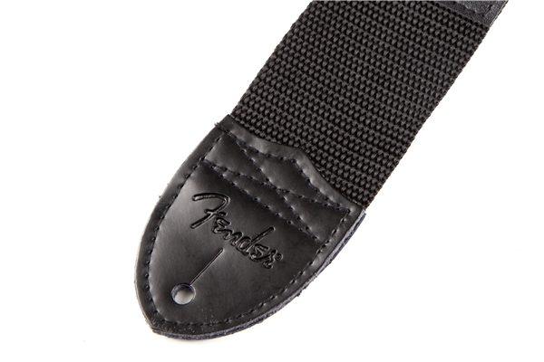 """Fender® 2"""" Black Poly Strap with White Fender® Logo"""