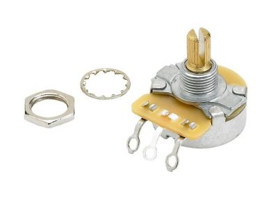 Fender® Pure Vintage 250K Split Shaft Potentiometer with Mounting Hardware
