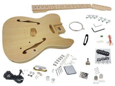 Diy do it yourself guitar kits sttc guitar kit canada solo solo tck 150 diy semi hollow electric guitar kit with maple top solutioingenieria Choice Image