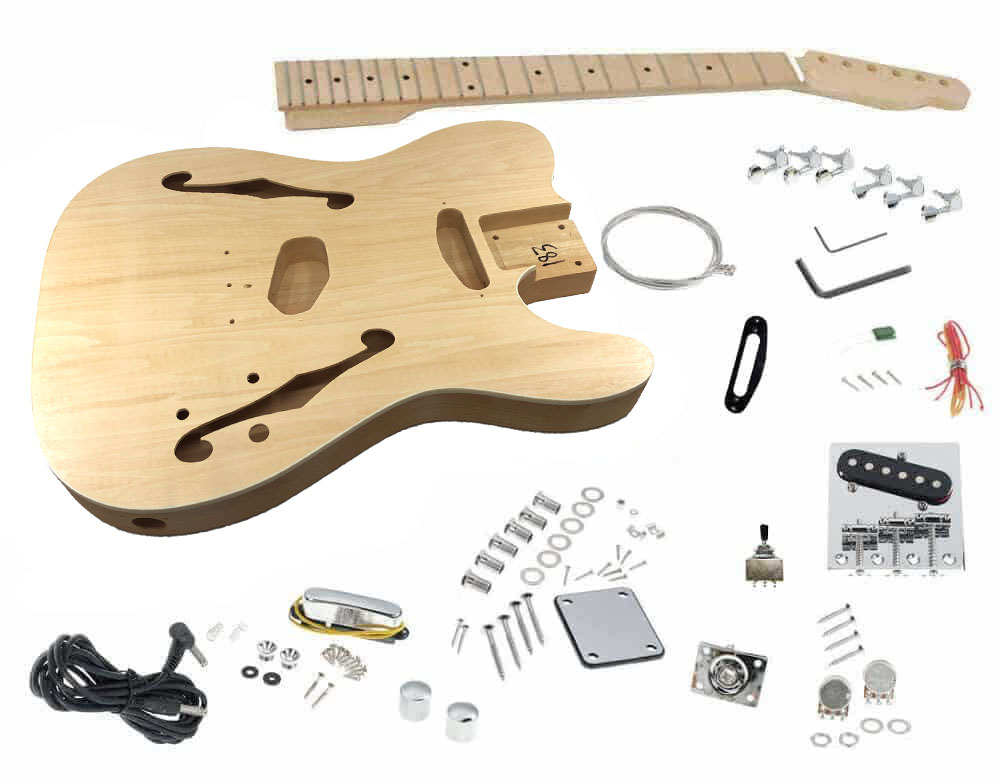 Solo Tck 150 Diy Semi Hollow Electric Guitar Kit With Maple Top