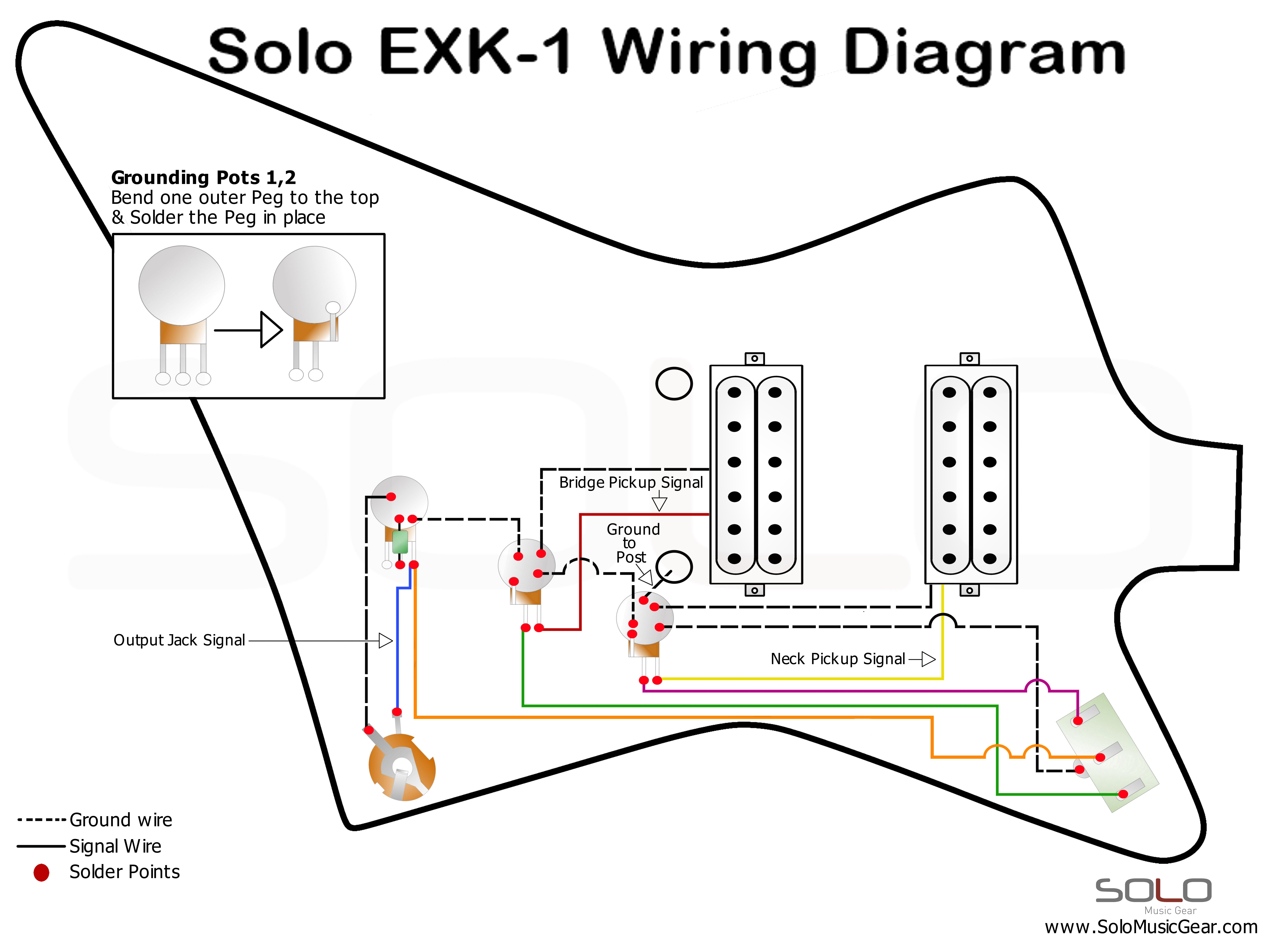 Wiring A Solo Trusted Schematics Diagram Ex Diagrams Exk 1 Music Gear 3 Way Switch Style