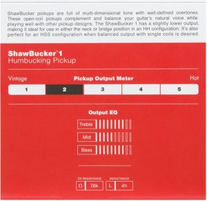 Fender® ShawBucker™ 1 Humbucking Pickup