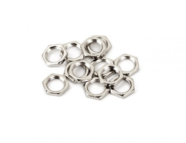Fender® Potentiometer Nuts Nickel