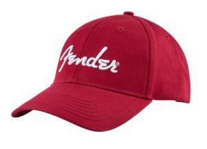 Fender® Logo Stretch Hat, Red