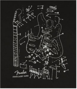 Fender® Stratocaster® Patent Drawing Mens