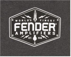 Fender® Bolt Down T-Shirt, Charcoal